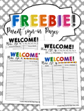 FREEBIE: Parent Conference Sign-in/Sing-up Sheets