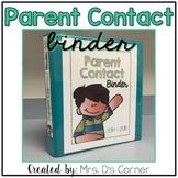 FREE Parent Contact Log ( Melonheadz Version )