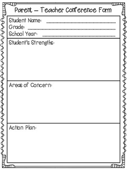 *FREEBIE* Parent -Teacher Conference Form