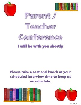 FREEBIE Parent Teacher Conference Notice Poster