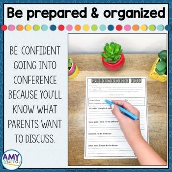 FREE Parent Teacher Conference Preview Form