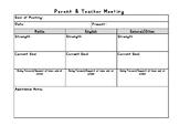 FREEBIE - Parent Teacher Meeting/Interview Form Template!