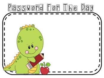 **FREEBIE** Password for the Week in 4 Themes