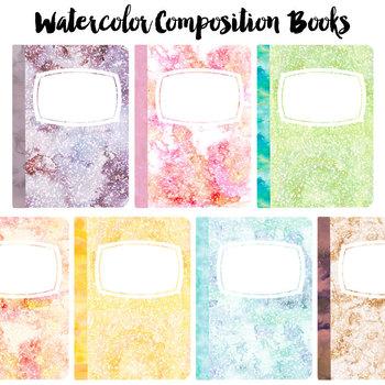 Pastel Watercolor Composition Book