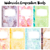 FREEBIE Pastel Watercolor Composition Books