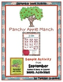FREEBIE -Patchy Apple Match- from Teachin' Gremlins Monthl