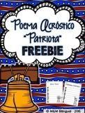 FREEBIE Patriot Acrostic Poem {SPANISH}