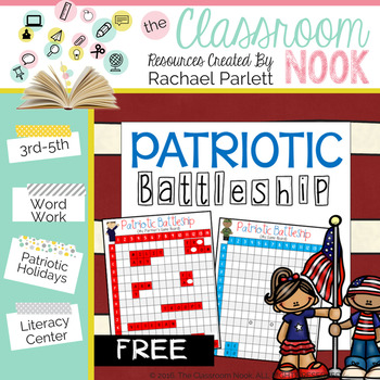 FREEBIE:  Patriotic Battleship {Word Work Game}