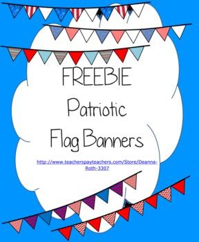 {FREEBIE} Patriotic Flag Banners