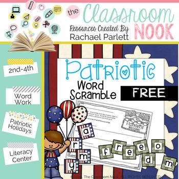FREEBIE: Patriotic Word Scramble