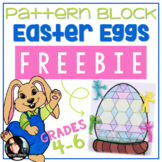 FREEBIE Pattern Block Easter Eggs Spring Math Activity FRE