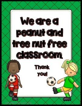 FREEBIE Peanut and Tree Nut Free Posters