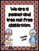 FREEBIE Peanut and Tree Nut Free Posters
