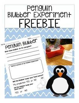*FREEBIE* Penguin Blubber Experiment
