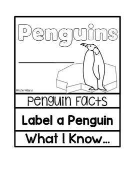 *FREEBIE* Penguin Flip Book
