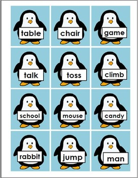 Sorting Activity (K to Grade 3) Penguin Prance! A Noun and Verb Dance!