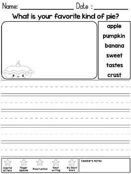 FREEBIE: Peppy Pencil Writing Journal - Thanksgiving Prompts with Word Help