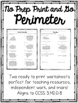 FREEBIE Perimeter No Prep Print and Go