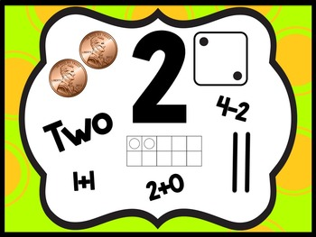 FREEBIE Perky Patterns Number Sense Posters {1-20}
