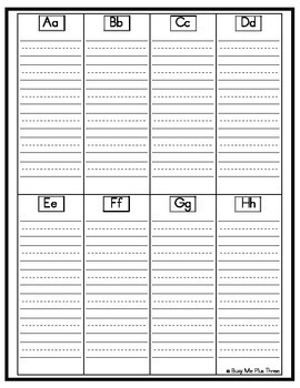 FREEBIE ~Personal Word Wall & Alphabet Dictionary~