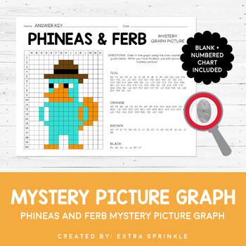 FREEBIE - Disney Inspired Phineas & Ferb Mystery Graphing Picture