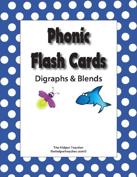 FREEBIE! Phonic Digraph and Blend Cards