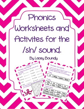 FREEBIE!!! Phonics worksheets and activities over the /sh/ sound!!!