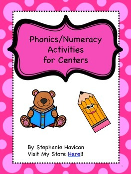 FREEBIE - Phonics/Numeracy Centers Preview