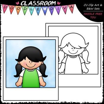 FREEBIE Photo Kid - Clip Art & B&W Set