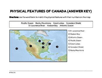 FREEBIE: Physical Features of Canada (Worksheet)