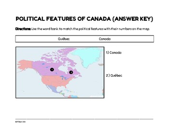 Geography of Canada (Worksheets)