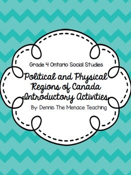 FREEBIE- Physical and Political Regions of Canada Intro