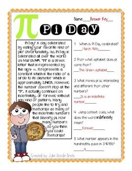 Pi Day Reading Passage