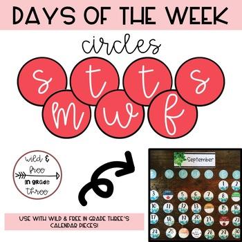 FREEBIE: Pink Days of the Week Circles