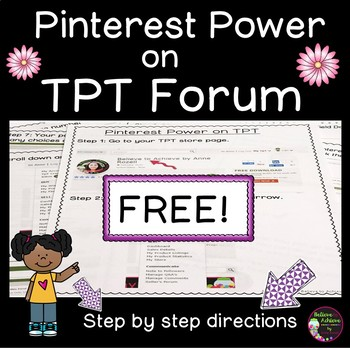 Pinterest Power on TPT Forum- FREE