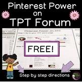 FREEBIE - Pinterest Power on TPT Forum