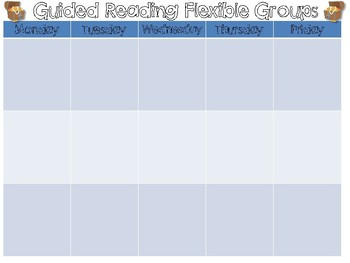 FREEBIE Pirate Themed Flexible Reading Groups Chart