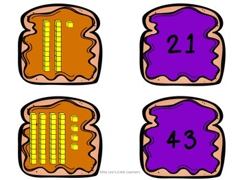 ***FREEBIE*** Place Value PB&J: Tens and Ones Place