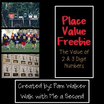 FREEBIE Place Value - The Value of 2 and 3 Digit Numbers