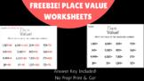 FREEBIE! Place Value Worksheet!
