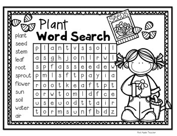 FREEBIE Plant Word Search For K 2 1854329 on Freebie Parts Of Apple