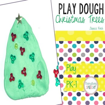 FREEBIE Play Dough Christmas Trees Carryover Activity