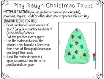 FREEBIE: Play Dough Christmas Trees Carryover Activity