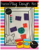 Play Dough Fraction Mats / Fractions Worksheets