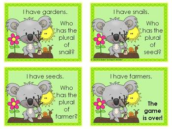 FREEBIE! Plural Nouns I Have - Who Has Game *Earth Day Theme!