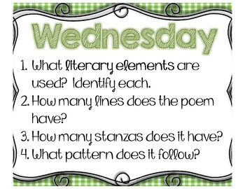 FREEBIE- Poem of the Week