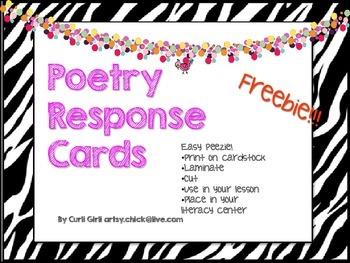 FREEBIE - Poetry Response Cards