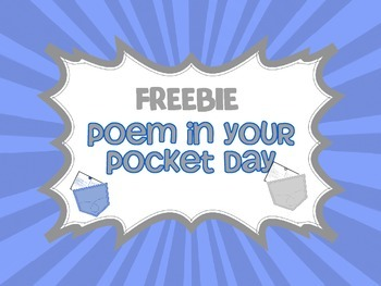 FREEBIE: Poetry in Your Pocket