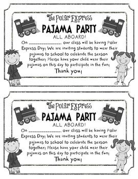 FREEBIE Polar Express Pajama Party