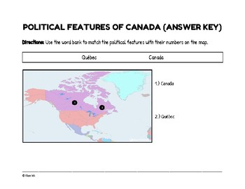 FREEBIE: Political Features of Canada (Worksheet)